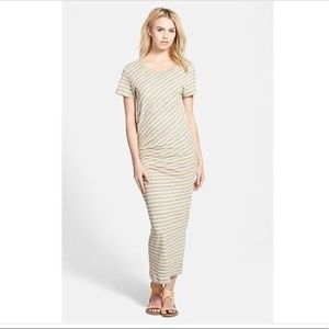 James Peres Striped TucketTee Maxi Dress
